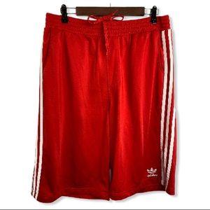Adidas Original Red Long Basketball Pocket Shorts